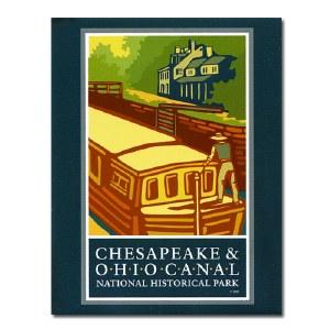 Chesapeake & Ohio Canal Logo Magnet