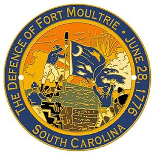 The Defence of Fort Moultrie Hiking Stick Medallion