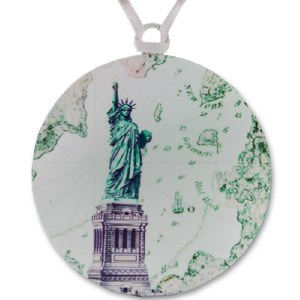 Statue of Liberty Map Ornament