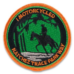 ''I Motorcycled Natchez Trace Parkway'' Embroidered Patch