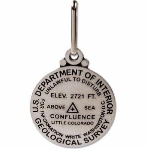 Confluence Bench Mark Medallion Zipper Pull