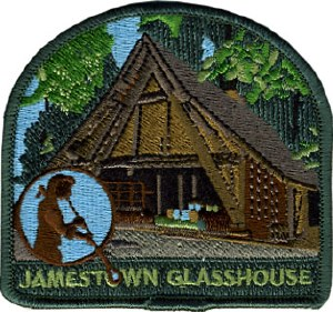 Jamestown Glasshouse Embroidered Patch