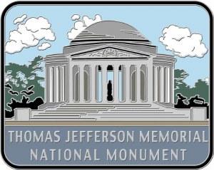 Thomas Jefferson Memorial National Monument Hiking Stick Medallion