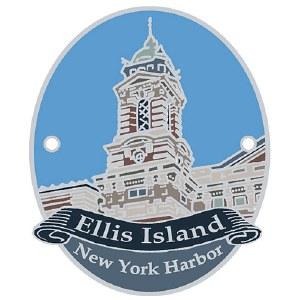 Ellis Island Hiking Stick Medallion