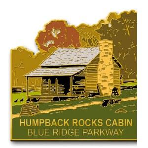 Humpback Rocks Cabin, Blue Ridge Parkway Lapel Pin
