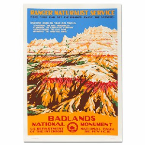 Badlands National Park WPA Travel Poster