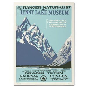 Grand Tetons National Park WPA Travel Poster