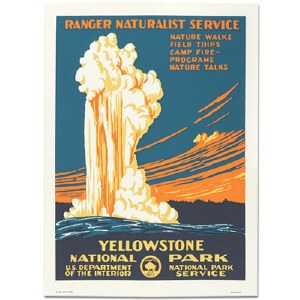 Yellowstone National Park WPA Travel Poster