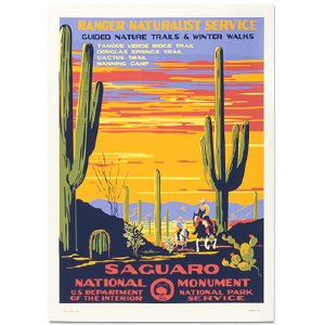 Saguaro National Park WPA Travel Poster