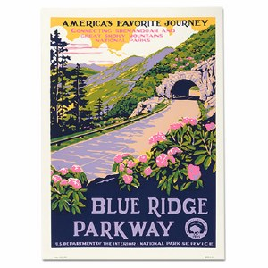 Blue Ridge Parkway WPA Travel Poster