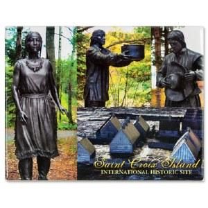 Saint Croix Island Statues Magnet