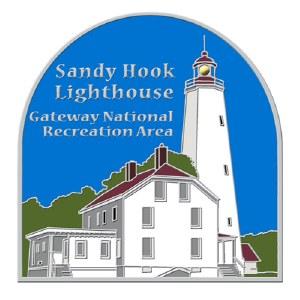 Sandy Hook Lighthouse Light Up Lapel Pin