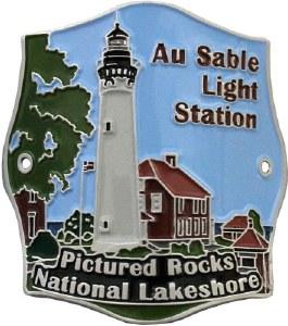 Au Sable Light Station Hiking Stick Medallion