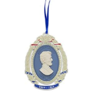 Abraham Lincoln Gold Finish Ornament