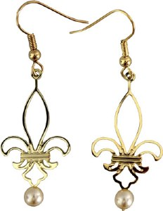 Gold Fleur-de-Lis Earrings