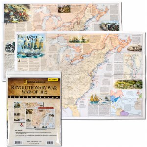 Revolutionary War and War of 1812 Map