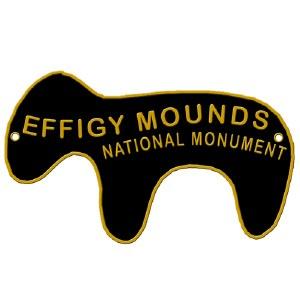 Effigy Mounds National Monument Hiking Stick Medallion