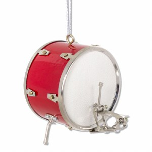 Red Bass Drum Ornament