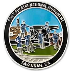 Fort Pulaski National Monument Hiking Stick Medallion