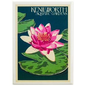 Kenilworth Park and Aquatic Gardens Water Lily Magnet