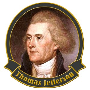 Founding Father Thomas Jefferson Collectible Lapel Pin