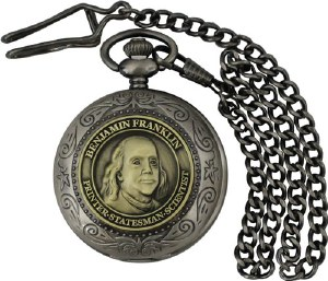 Benjamin Franklin Pocket Watch