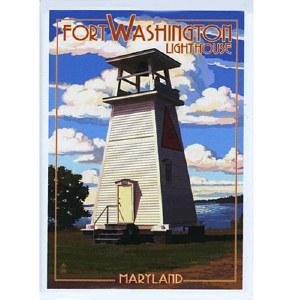 Fort Washington Lighthouse Magnet