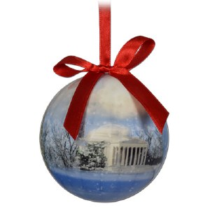 National Mall & Memorial Parks Winter Holiday Ball Ornament
