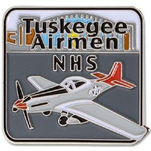 Red Tail Airplane Pin
