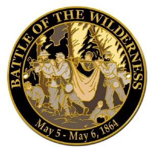 Battle of the Wilderness Hiking Stick Medallion