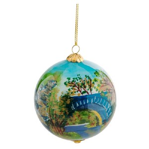 "Blue Ridge Parkway ""Four Scenes"" Holiday Globe Ornament"