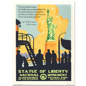 The Statue of Liberty WPA Style Travel Poster