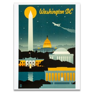 Washington DC Retro Print
