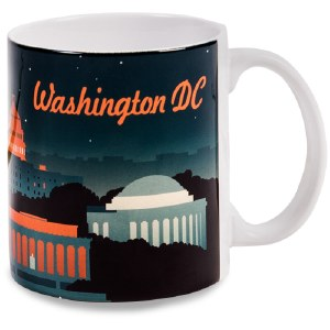 Washington DC Retro Mug