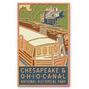 Chesapeake & Ohio Canal Hiking Medallion