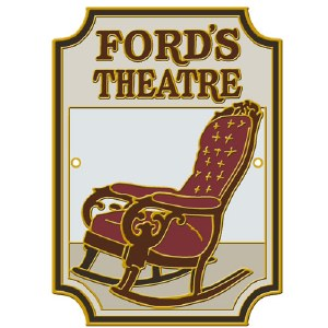 Ford's Theatre Hiking Stick Medallion