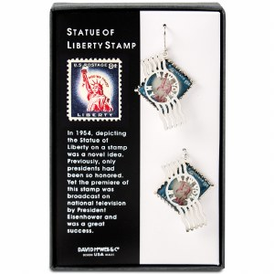 Statue of Liberty Postage Stamp Earrings