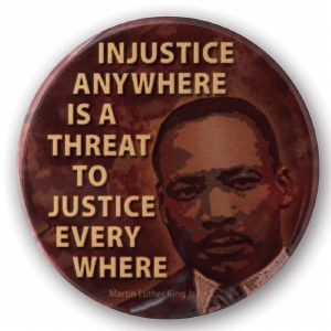 Martin Luther King Jr. Injustice Button