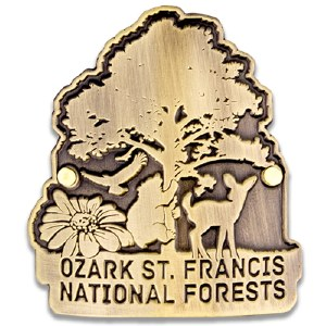Ozark-St. Francis NF Hiking Stick Medallion