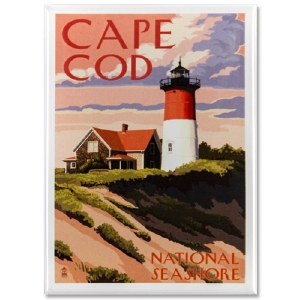 Cape Cod National Seashore Retro Magnet