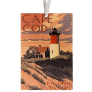Retro Cape Cod National Seashore Ornament