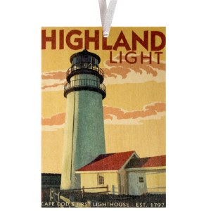 Highland Lighthouse Retro Ornament