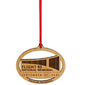 Flight 93 Logo Wood Ornament