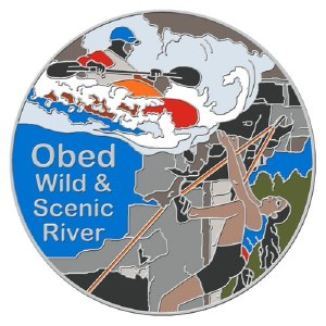 Obed Kayak & Climber Collectable Lapel Pin
