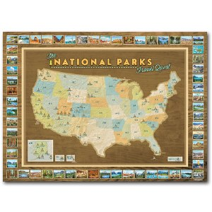 National Parks Travel Quest Map