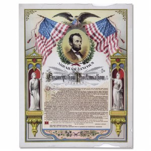 Replica Emancipation Proclamation Print
