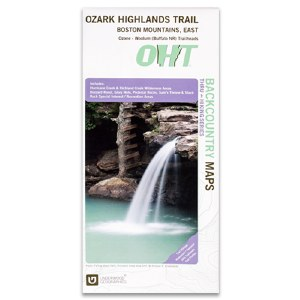 Ozark Highlands Trail Boston Mountains East Map
