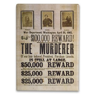 John Wilkes Booth Wanted Poster Magnet