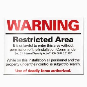 Minuteman Missile NHS Warning Magnet