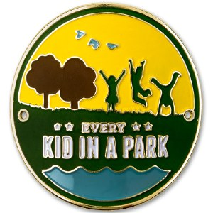 Every Kid In A Park Hiking Stick Medallion